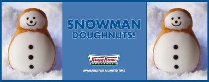 For a limited time at Krispy Kreme